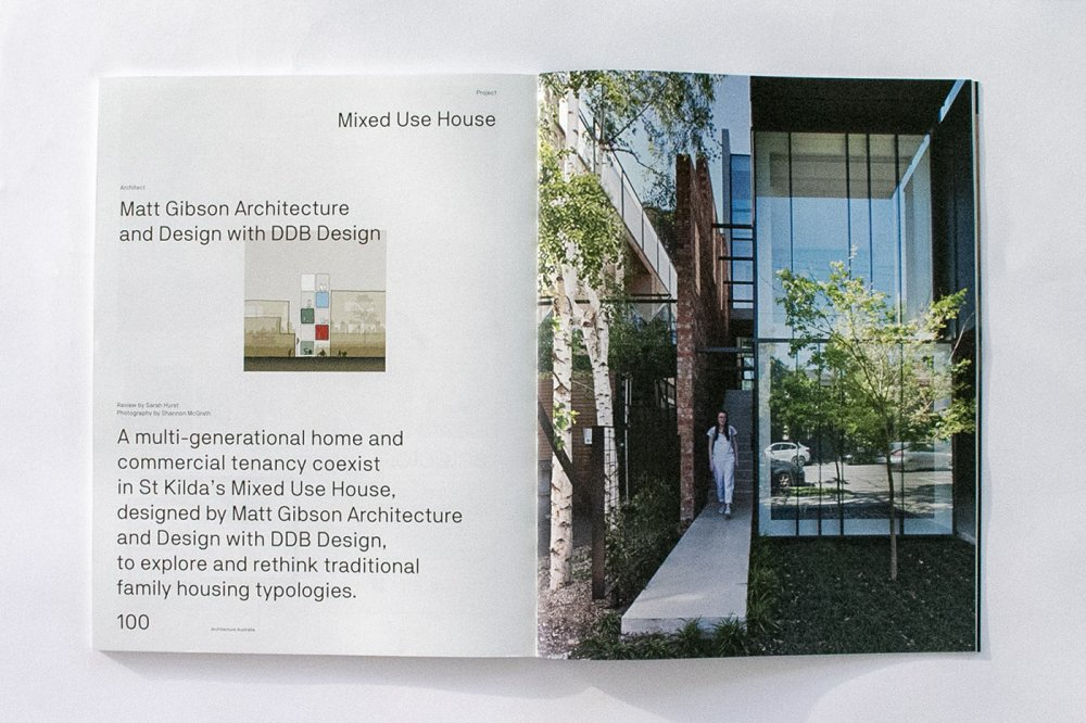 Wellington St, Mixed Use House featured in AA Magazine
