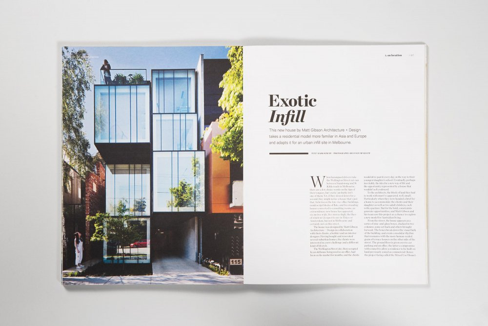 Wellington St Project features in Habitus Magazine
